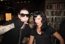 Born Villain: Marilyn Manson and Shia LaBeouf Book/DVD signing and screening @ Hennessey + Ingalls, 9/1/11