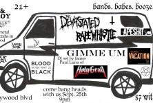 Bad Girl: Rapewhistle, GIMME UM @ Cheetah's, 9/25/11