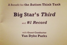 Feel: Big Star 3rd and #1 Live to Benefit the Autism Think Tank, Wilshire Ebell Theater, 9/27/14